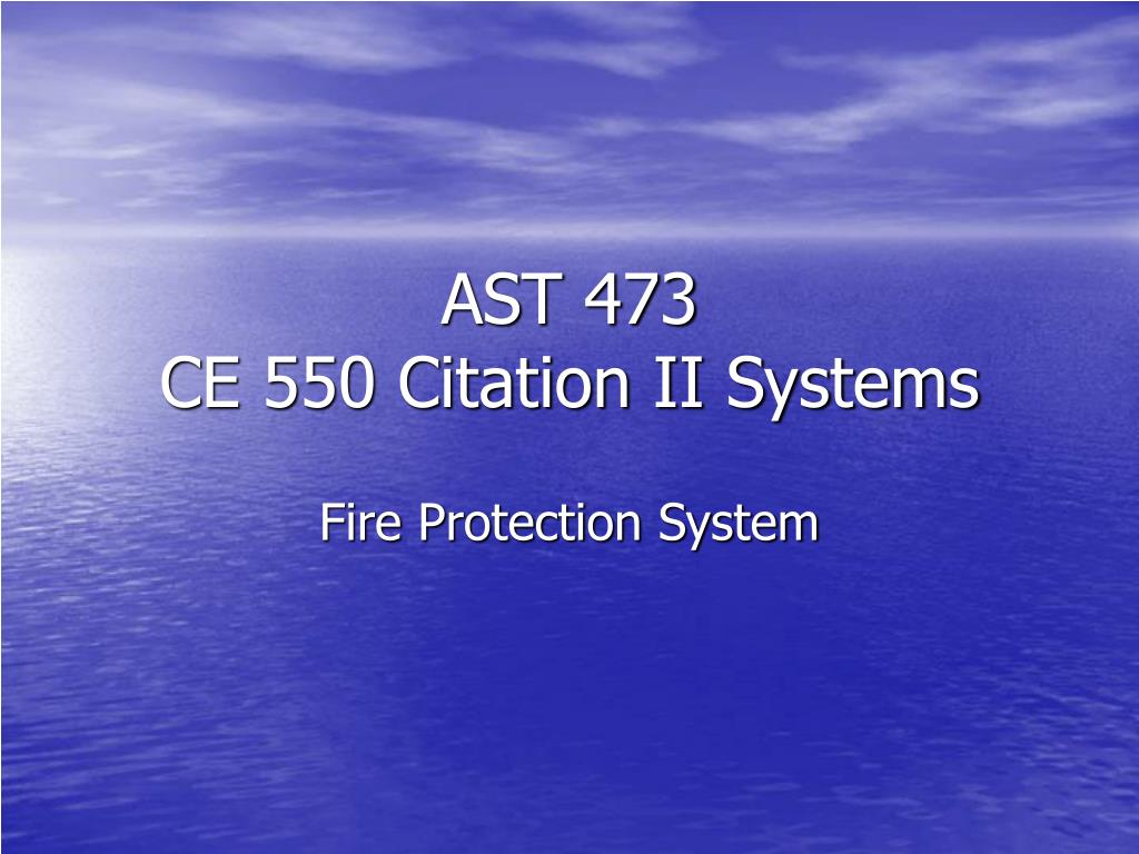 ast 473 ce 550 citation ii systems l.