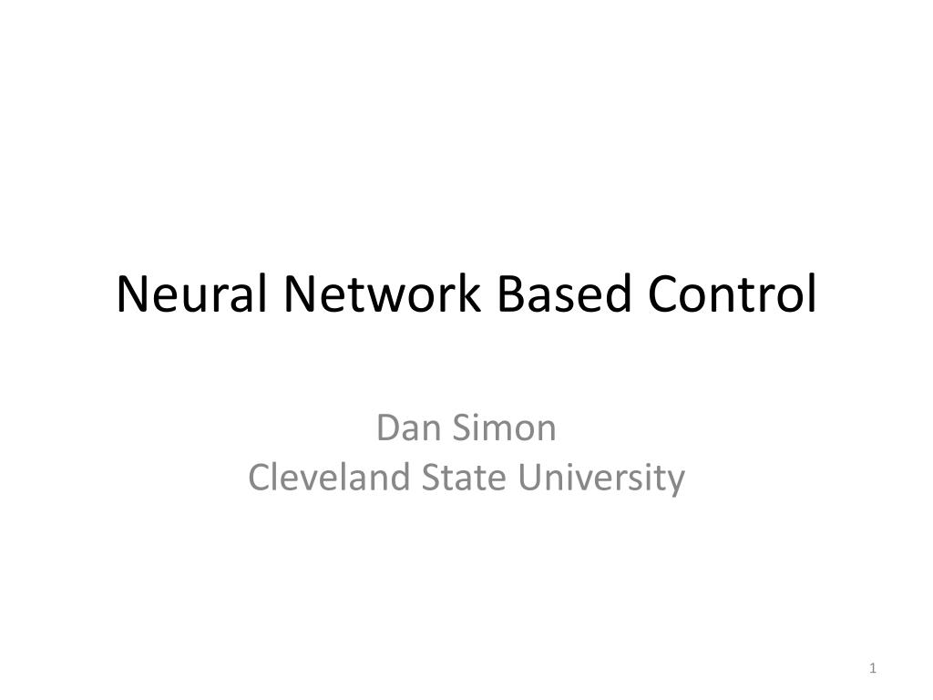 neural network based control l.