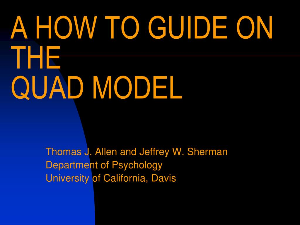 a how to guide on the quad model l.