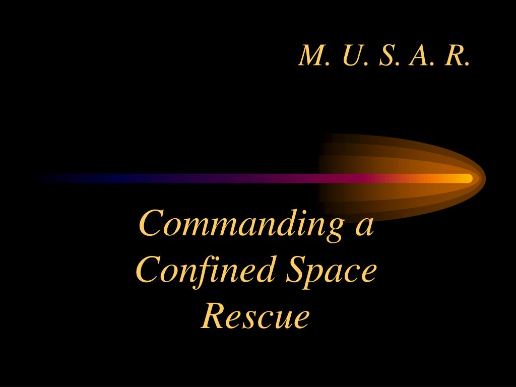 commanding a confined space rescue l.