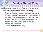 foreign market entry