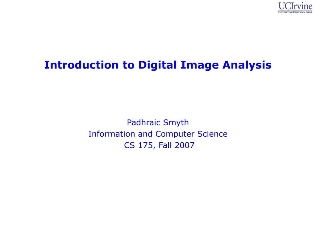 introduction to digital image analysis l.