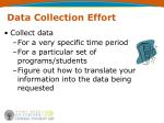data collection effort