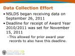 data collection effort10