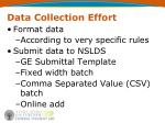 data collection effort7