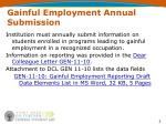 gainful employment annual submission