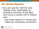 no online reports