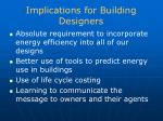 implications for building designers