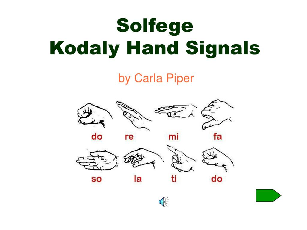 solfege kodaly hand signals l.