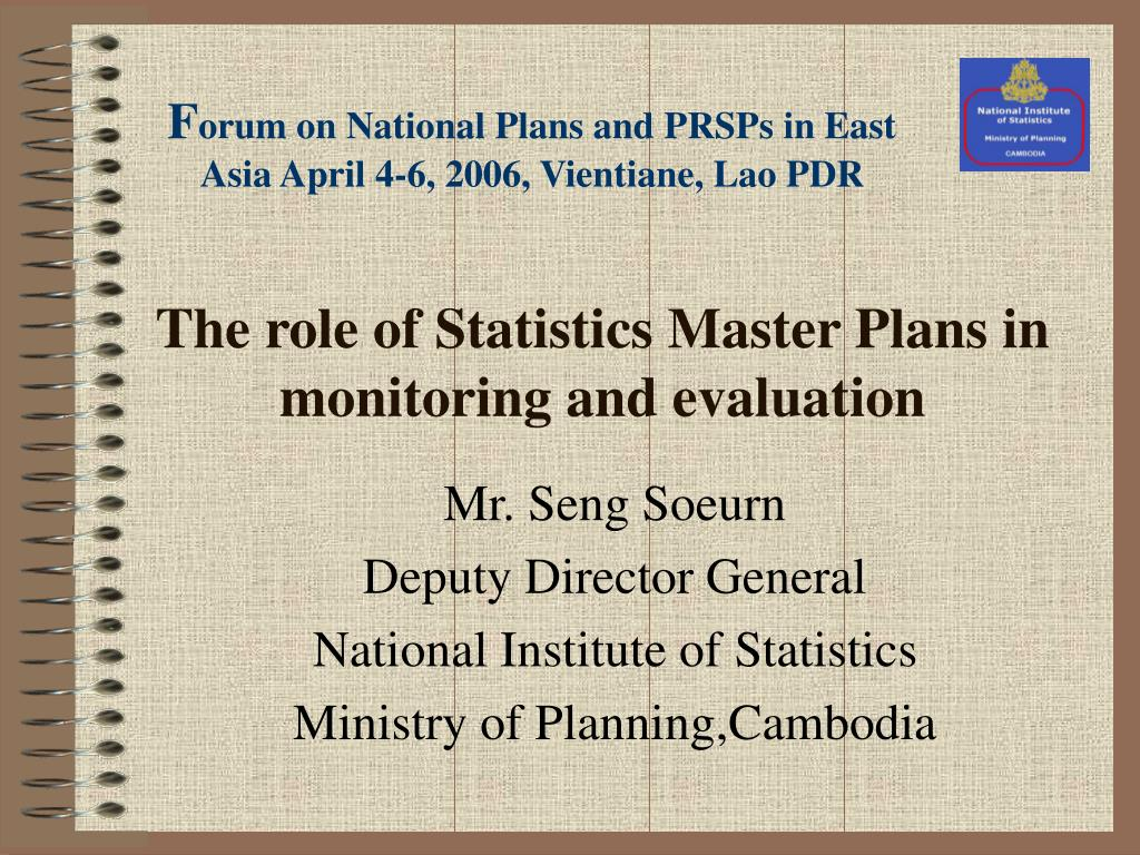 the role of statistics master plans in monitoring and evaluation l.