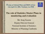 the role of statistics master plans in monitoring and evaluation