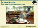 cancer patient chi designed patented infusion chair