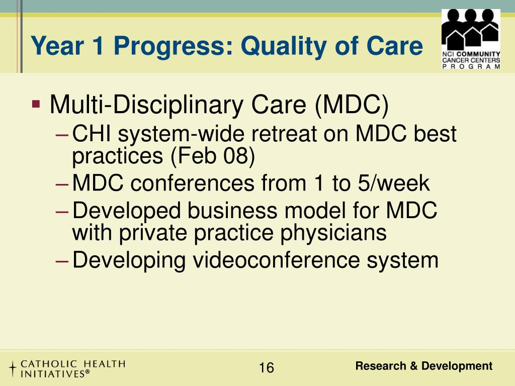 Year 1 Progress: Quality of Care