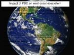 impact of pdo on west coast ecosystem productivity