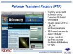 palomar transient factory ptf