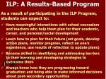 ilp a results based program
