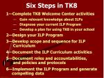 six steps in tk8