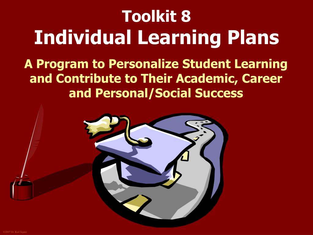 toolkit 8 individual learning plans l.