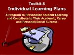 toolkit 8 individual learning plans