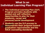what is an individual learning plan program