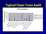 typical clean trace audit