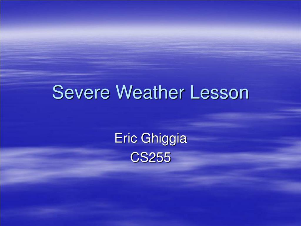 severe weather lesson l.