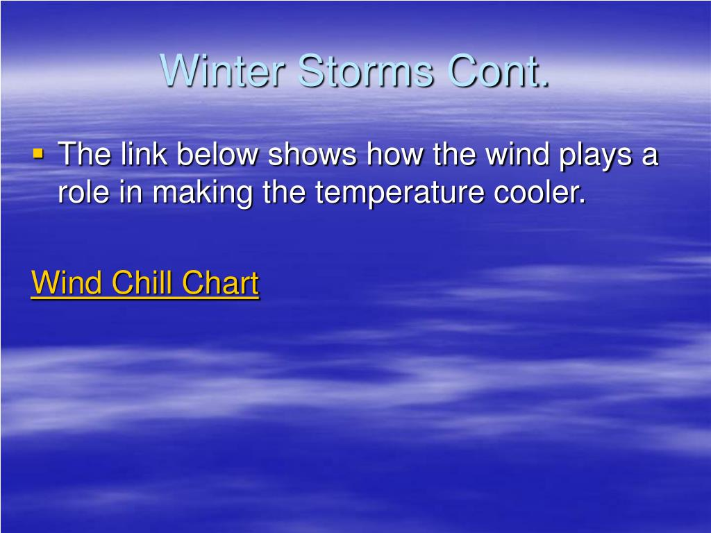 Winter Storms Cont.