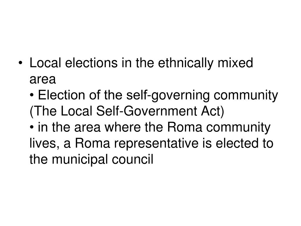 Local elections in the ethnically mixed area