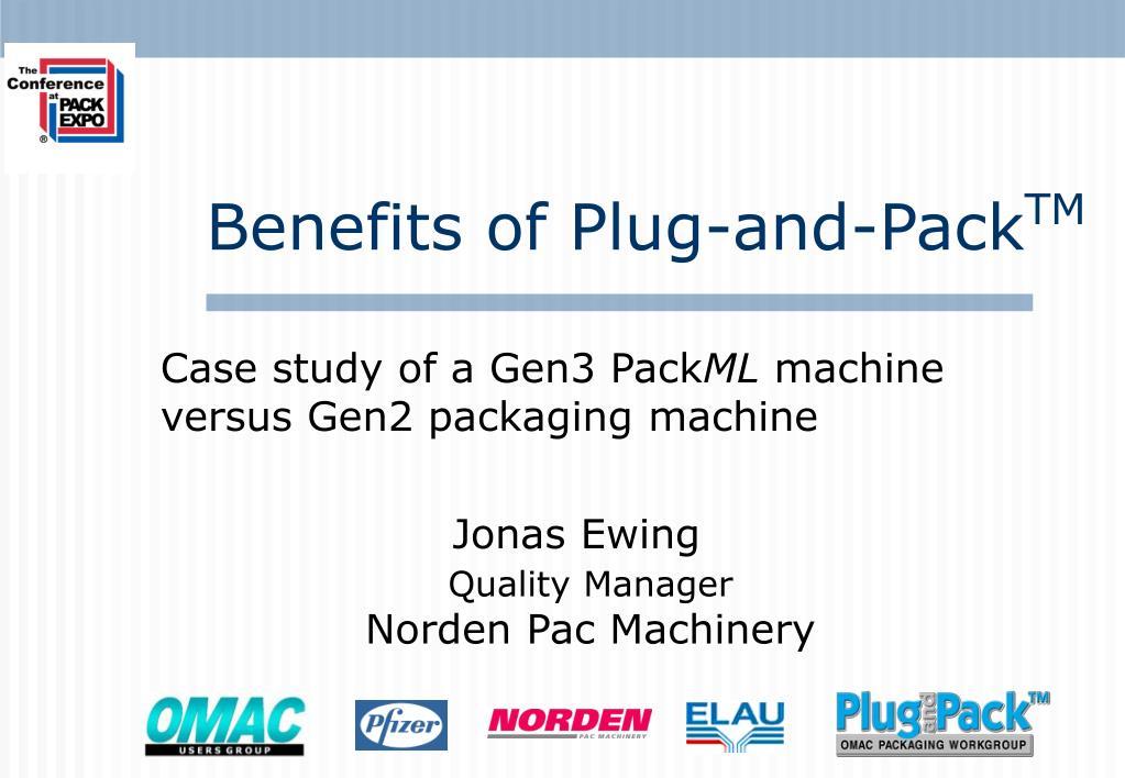 case study of a gen3 pack ml machine versus gen2 packaging machine l.