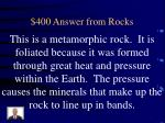 400 answer from rocks