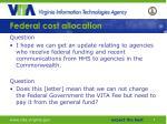 federal cost allocation