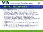 federal cost allocation11