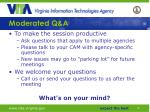 moderated q a