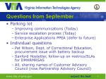 questions from september