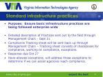 standard infrastructure practices49