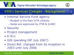 vita s services charges background