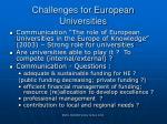 challenges for european universities