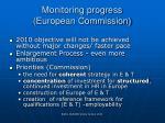 monitoring progress european commission