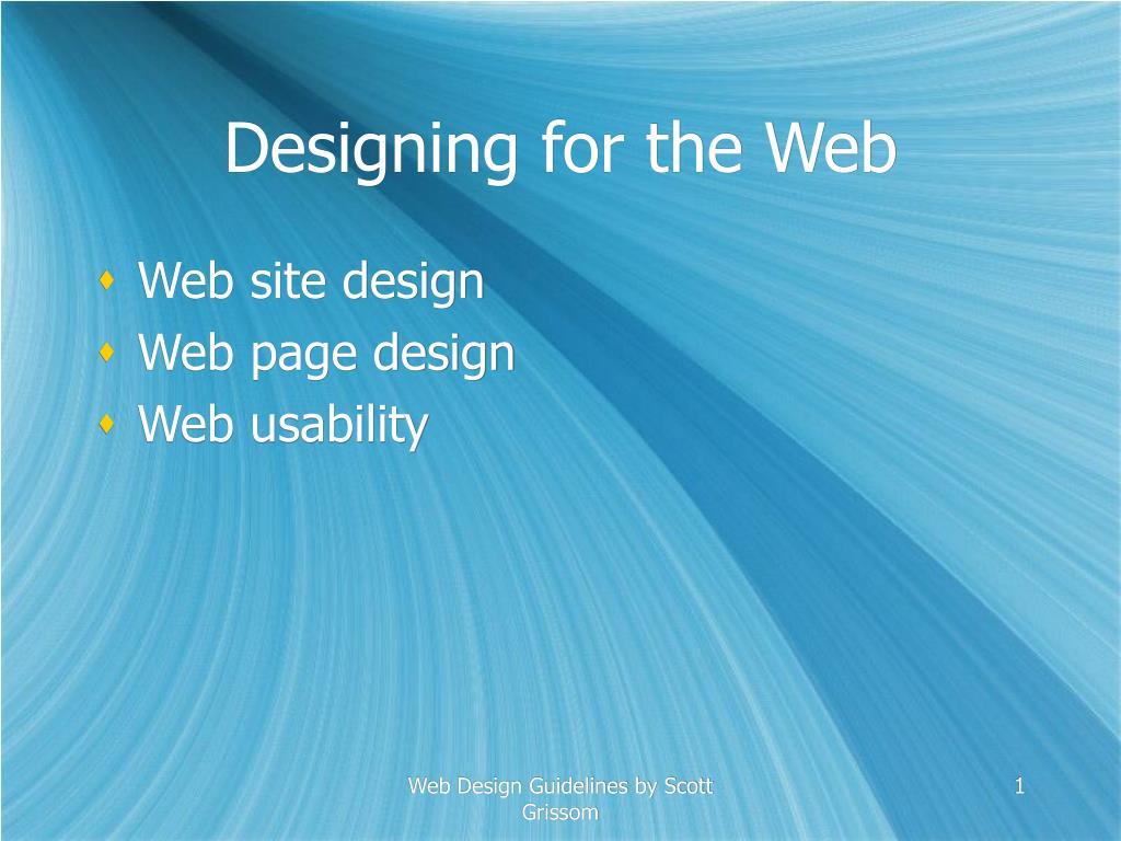 designing for the web l.