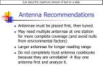 antenna recommendations