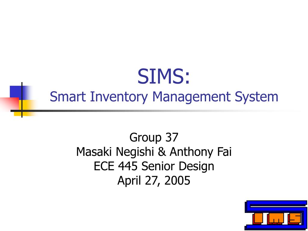 sims smart inventory management system l.