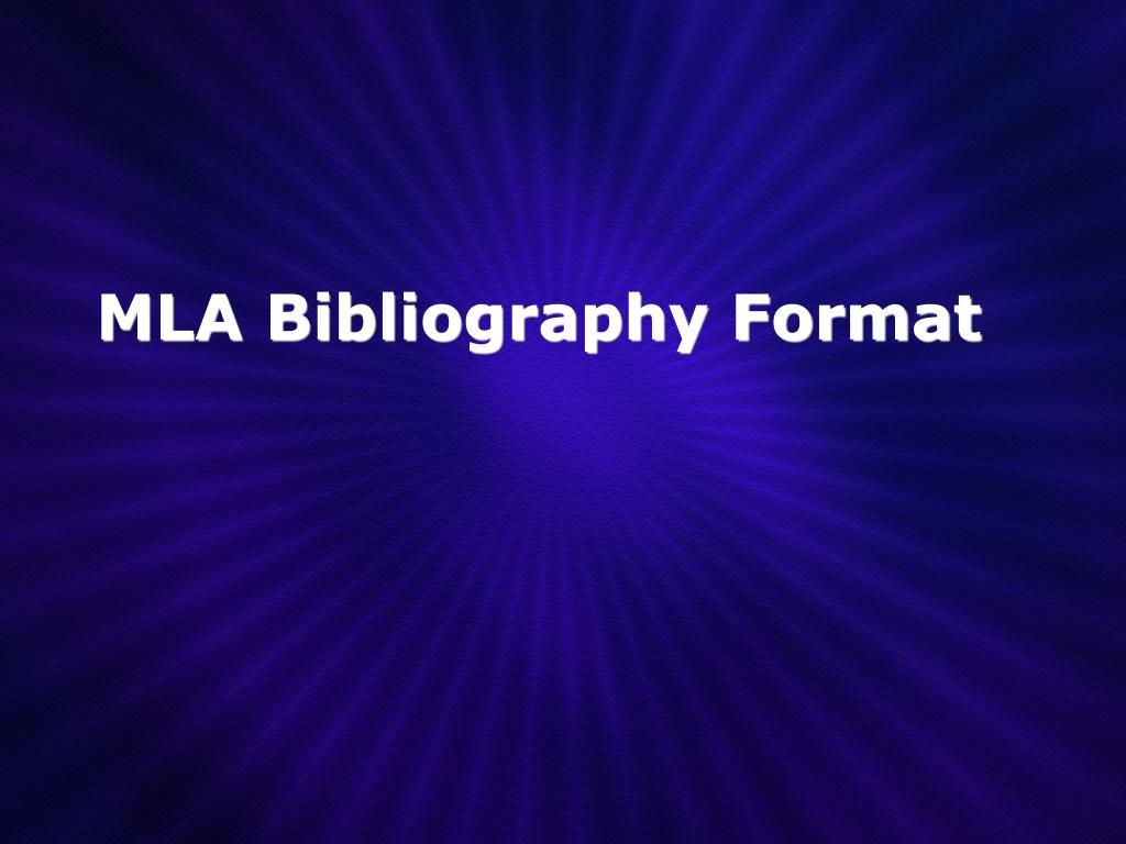 mla bibliography format l.