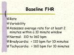 baseline fhr