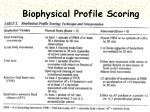 biophysical profile scoring