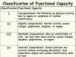 classification of functional capacity