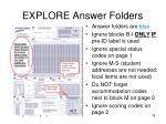 explore answer folders