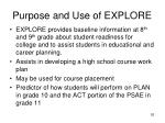 purpose and use of explore