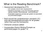 what is the reading benchmark