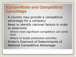 nation state and competitive advantage