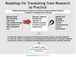roadmap for translating from research to practice